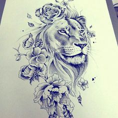 tattoo designs 2019 Masculine, yet feminine too! Would make a great shoulder tattoo! tattoo designs 2019 Masculine, yet feminine too! Would make a great shoulder tattoo! Leo Tattoos, Future Tattoos, Body Art Tattoos, Tatoos, Shaded Tattoos, Piercings, Piercing Tattoo, Tigh Tattoo, Lion Thigh Tattoo