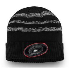 Men s Carolina Hurricanes Fanatics Branded Black Authentic Pro Clutch  Cuffed Knit Hat 03e49d7bb862