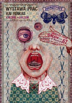 """Opening of Gallery Imago Art"" (2015) poster by Ryszard Kaja"