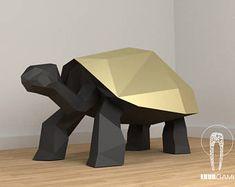turtle - papercraft, lowpoly, DIY, PDF download