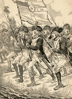 The Battle of Valmy, 1792, during the French Revolutionary Wars.