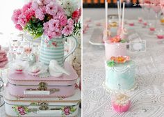 Details for this romantic and cute birds baby shower, we use green gate pieces to decoration