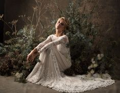 'Cloud Nine' - The Stunning New Bridal Collection from Dreamers & Lovers - Chic Vintage Brides Perfect Wedding Dress, Cheap Wedding Dress, Boho Wedding Dress, Bridal Dresses, Wedding Gowns, Lace Wedding, Green Wedding, Wedding Shoes, Long Sleeve Lace Gown