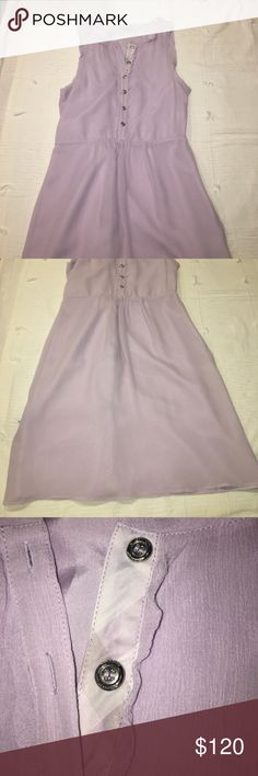 Burberry London lavender button down dress size 4 Worn once, in perfect condition. Let me know if you have any questions/want more pictures Burberry Dresses
