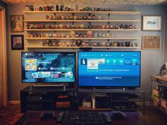 Here's my console lair...