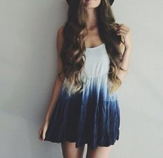 Boho, casual, chic, blue, white