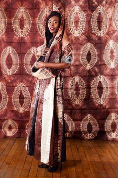 "Ensemble ""Bayefall"" en tissu africain bazin"