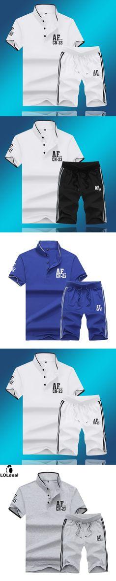 T Shirts +  Summer Brand Tshirt Men Letter Printed Sportsuit Set T-Shirt Suit Male Famous Brand Men Top Men Shirt 5XL