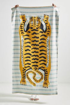 Tiger Beach Towel Full Circle Home: Jungle Safari Home Accessories that are not tacky!