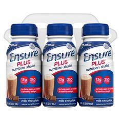 Ensure Plus Chocolate Nutrition Shake - 6 pack (8oz each)