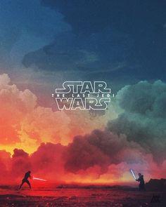 Star Wars Episode VIII: The Last Jedi poster - Star Wars Paintings - Star Wars Paintings ideas - Star Wars Fan Art, Star Wars Film, Star Wars Poster, Star Trek, The Force Star Wars, Star Wars Jedi, Jedi Wallpaper, Star Wars Wallpaper, Wallpaper Ideas