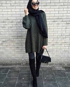 Winter outwears with hijab – Just Trendy Girls Hijab Chic, Casual Hijab Outfit, Islamic Fashion, Muslim Fashion, Modest Wear, Modest Outfits, Modesty Fashion, Fashion Outfits, Fashion Women