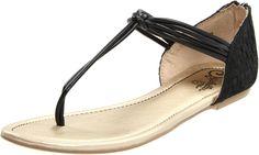 simple, cute, black sandals
