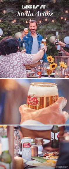 This Labor Day, host with Stella Artois and invite the group of friends who helped make each summer day special. Enjoy a family-style meal, cherish each other's company, and reminisce on the summer's best memories — as you create a new one.