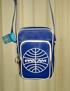 Blue Pan Am Malay Messenger Bag