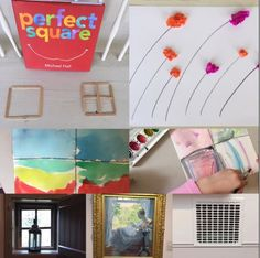April 2018 Preschool Palette: This month's lesson plan focuses on squares and the marvelous ways they can transform. Process Art, Lesson Plans, Squares, The Creator, Art Projects, Preschool, Palette, How To Plan, Creative