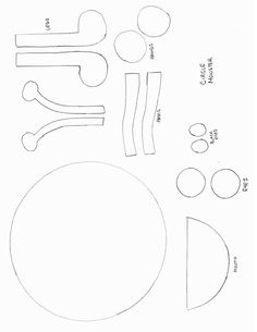 Shapes Crafts - Print your Circle Monster Template at AllKidsNetwork.com