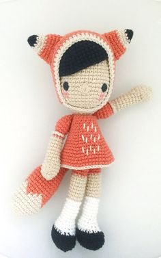 This is a PDF CROCHET PATTERN, NOT THE FINISHED DOLL. DIEGA FOX is an original amigurumi pattern, so you can crochet your own doll. The patterns