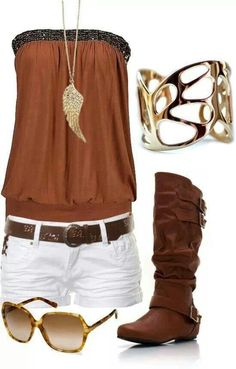 Minus the cowboy boots. With Flats or Flip Flops.  find more women fashion ideas on www.misspool.com