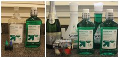 For a cruise: packing lots and lots of vodka in Listerine bottles. So you fill with vodka, add two drops of green food coloring, one drop of blue, seal the wrapper back on...and ta-da every bottle made it on board!