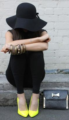 Boho in black with a pop of yellow