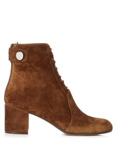 Gianvito Rossi Finlay lace-up suede ankle boots