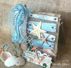 Such a Pretty Mess: Easel Card and Template {Bo Bunny Boardwalk}