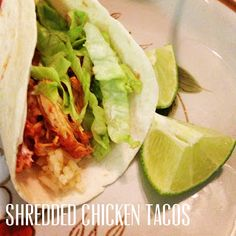Dinner For Two: Crockpot Shredded Chicken Tacos