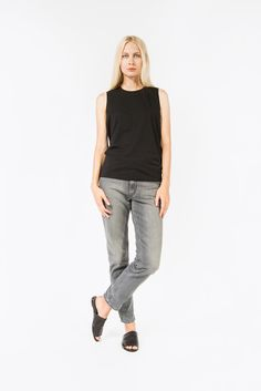 Bye C Base Tank, Black by Acne Studios | #kickpleat #acnestudios #fashion #style #blacktank