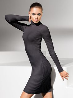 Wolford - Merino Rib Dress Turtleneck 319€ differents color #tightdress #turtleneckdress #ribdress #wolford
