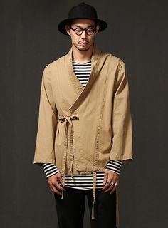 Mens Haider Kimono Shirt Cardigan at Fabrixquare