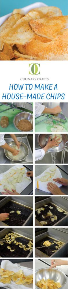 How To Make House-Made Chips www.culinarycrafts.com