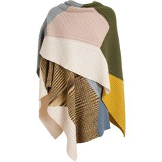 MISSONI Multi Knit Cashmere Cape ($1,535) ❤ liked on Polyvore featuring outerwear, cape, coats, jackets, cardigans, missoni, missoni cape, cape coat, brown cape and knit cape