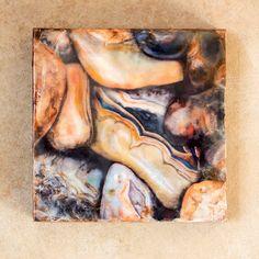 Original encaustic painting  Agates mixed by EncausticsbyGretchen