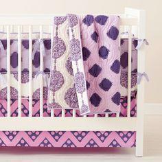Purple chevron & mixed prints #landofnod