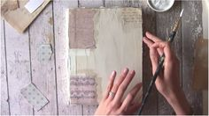 In depth tutorial on how to use venetian plaster on the cover of an Art Journal and then create a mixed media painting on that plaster substrate.