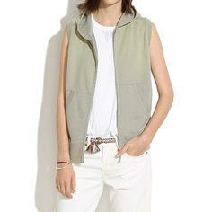 Zip-Up Hoodie Vest - wear with long sleeves for fall/winter