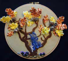 Stumpworked Oak Tree project on Craftsy.com
