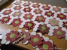 Resultado de imagen para patchwork hexagonos