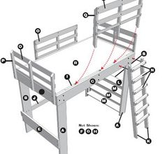 Stapelbed Plannen - Loft Style