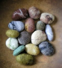 1000 images about felting on pinterest felt rocks and for Felted wool boulders