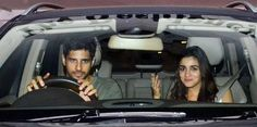 Karan threw a big bash last night for French fashion designer Christian Louboutin, who is known for crafting his footwear collection with a ravishing red sole. The filmmaker is a big fan of the designer's creations. Alleged love birds Sidharth and Alia arrived at the party in the same car, with the former at the wheel. Sid flashed a thumbs up to the paps around while making a smashing entry.