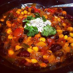 Three Bean Vegetarian Chili - ★★★★★