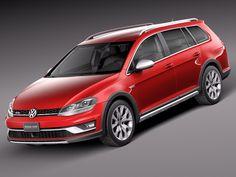 2015 Volkswagen Golf 3D Model - 3D Model