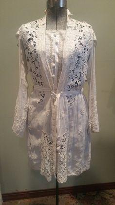 Antique Edwardian Openwork Lace Irish Crochet Intricate Jacket or Overlay   eBay