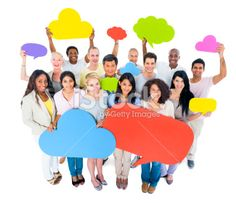 Group of people with social media symbol Royalty Free Stock Photo