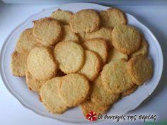 Εύκολα μπισκοτάκια ινδικής καρύδας #sintagespareas Cookie Recipes, Snack Recipes, Cookie Bars, Fun Desserts, Sweet Recipes, Biscuits, Chips, Sweets, Cookies