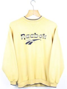 FOR SALE  Vintage REEBOK Yellow Logo Sweatshirt Jumper  2cd8713d0