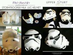 Storm trooper. Star wars costume DIY made from milk jug