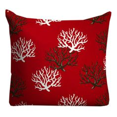 Outdoor Pillows Red Outdoor Throw Pillows beach by FineFreshDesign